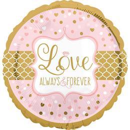 28 inch-es Sparkling Wedding Szerelmes - Love - Alwasy&Forever Super Shape Fólia Lufi