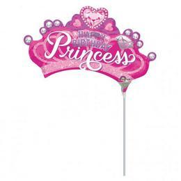 Princess Crown - Hercegnő Korona Szülinapi Mini Shape Fólia Lufi (5 db/csomag)