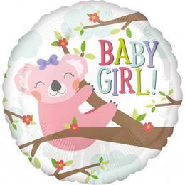 18 inch-es Baby Koala Girl Fólia Lufi Babaszületésre