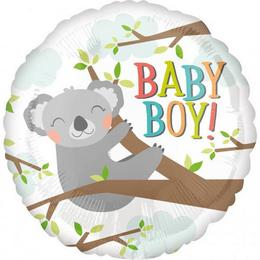 18 inch-es Baby Koala Boy Fólia Lufi Babaszületésre