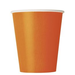 Pumpkin Orange Papír Parti Pohár - 270 ml, 8 db-os