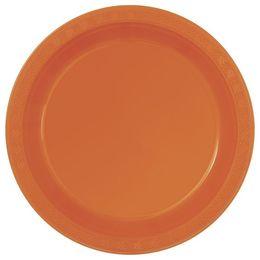 Pumpkin Orange Műanyag Parti Tányér - 23 cm, 8 db-os