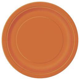 Pumpkin Orange Papír Parti Tányér - 23 cm, 8 db-os