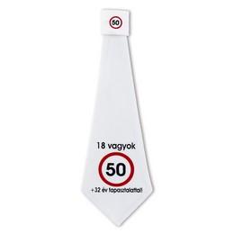 Nem vagyok 50... Sebességkorlátozó Születésnapi Számos Nyakkendő