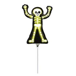 Neon Csontváz - Neon Skelly Mini Shape Fólia Lufi (5 db/csomag)
