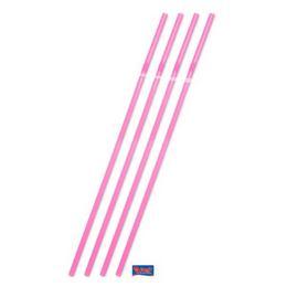 Neon Pink Jumbo Szívószál - 25 db-os, 44 cm
