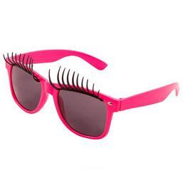 Neon Pink Parti Szemüveg Szempillákkal