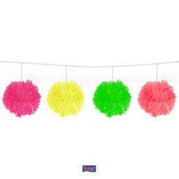 Neon Színes Bolyhos Pom-Pom Füzér