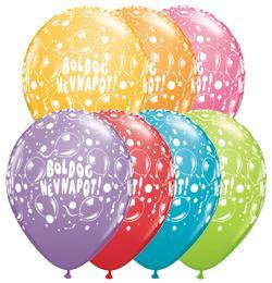11 inch-es Boldog Névnapot Sparkling Balloons Festive Lufi (6 db/csomag)