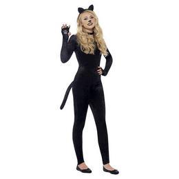 Fekete Cica Jelmez Lányoknak, XS-es