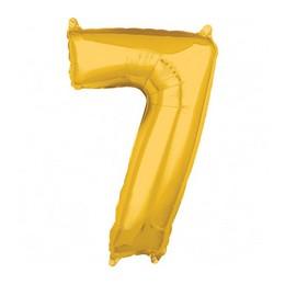 Number 7 Gold Mid Size Super Shape Számos Fólia Lufi