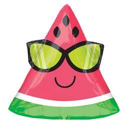 Nyári Napszemüveges Dinnye - Watermelon Junior Shape Fólia Lufi