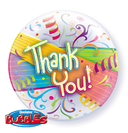 22 inch-es Thank You Streamers - Köszönettel Bubble Lufi