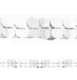Fehér Papír Füzér - 3,6 m