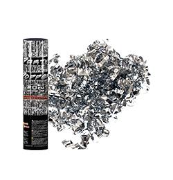20 cm-es, Ezüst Metál Szalagokat Kilövő Konfetti Ágyú