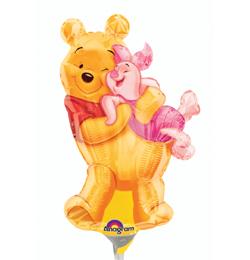 Micimackó - Big Pooh Hug - Mini Shape Fólia Lufi (5 db/csomag)