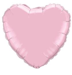 18 inch-es Gyöngyház Rózsaszín - Pearl Pink Szív Fólia Lufi