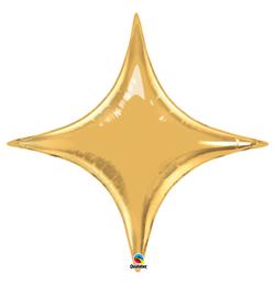 40 inch-es Metál Arany - Starpoint Metallic Gold Fólia Lufi