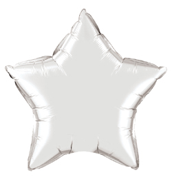 20 inch-es Ezüst -  Silver Csillag Fólia Lufi