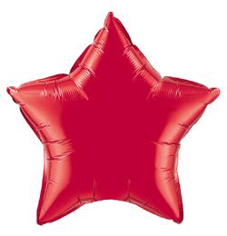 20 inch-es Rubinvörös - Ruby Red Csillag Fólia Lufi