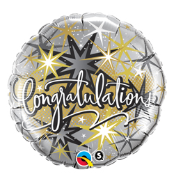 18 inch-es Gratulálunk -  Congratulations Elegant Fólia Lufi