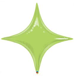 20 inch-es Limezöld - Starpoint Lime Green Fólia Lufi