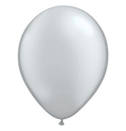 11 inch-es Metallic Silver Kerek Lufi (6 db/csomag)