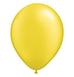 11 inch-es Pearl Citrine Yellow Kerek Lufi (25 db/csomag)