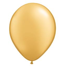 11 inch-es Metallic Gold Kerek Lufi (25 db/csomag)