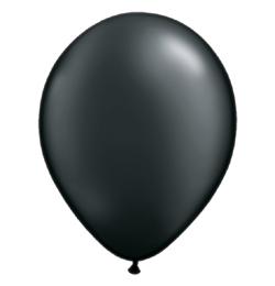 11 inch-es Pearl Onyx Black Kerek Lufi (6 db/csomag)