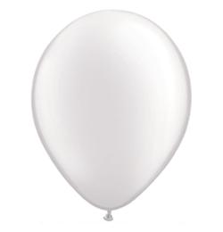 11 inch-es Pearl White Kerek Lufi (6 db/csomag)