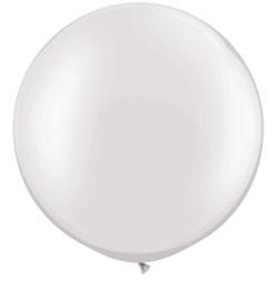 30 inch-es Pearl White Kerek Latex Lufi (2 db/csomag)