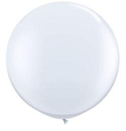 3 feet-es White (Standard) Kerek Latex Lufi (2 db/csomag)
