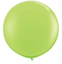 3 feet-es Lime Green (Fashion) Kerek Latex Lufi (2 db/csomag)