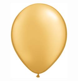 11 inch-es Metallic Gold Kerek Lufi (6 db/csomag)
