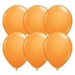 11 inch-es Orange (Standard) Kerek Lufi (6 db/csomag)