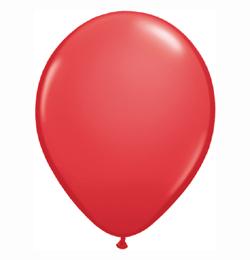 11 inch-es Red (Standard) Kerek Lufi (6 db/csomag)
