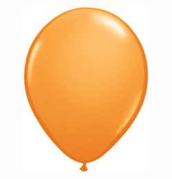 16 inch-es Orange (Standard) Kerek Lufi (10 db/csomag)