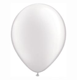 16 inch-es Pearl White Kerek Lufi (10 db/csomag)