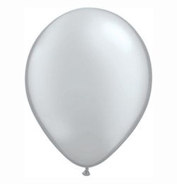 16 inch-es Silver (Metallic) Kerek Lufi (10 db/csomag)