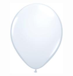16 inch-es White (Standard) Kerek Lufi (10 db/csomag)