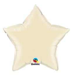20 inch-es Pearl Ivory - Gyöngyház Krémszínű Csillag Fólia Lufi