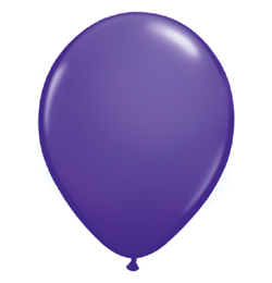 16 inch-es Purple Violet (Fashion) Kerek Lufi (10 db/csomag)