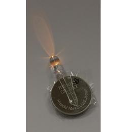 Borostyán Sárga Fényű 5 mm-es Led, elemmel - Léggömb Fény (10 db/csomag)