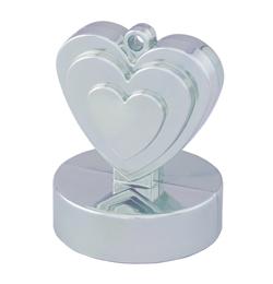Ezüst (Silver) Szives Léggömbsúly - 110 gramm