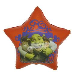 30 inch-es Shrek Csillag Alakú Fólia Lufi