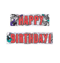 boldog szülinapot rock Rock Star Happy Birthday   Szülinapi Parti Banner   3,6 m  boldog szülinapot rock