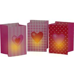 Szíves Világító Szerelmes Dekorációs Fénytasak - 3 db-os
