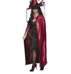 Elegáns Piros Női Boszorkány Köpeny