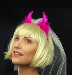 Pink Ördögszarv Fehér Fátyollal
